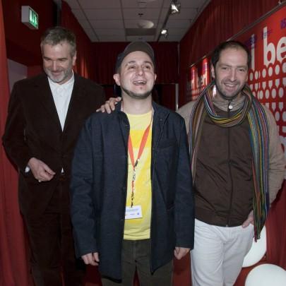 Roberto Castón junto al director de la sección Panorama